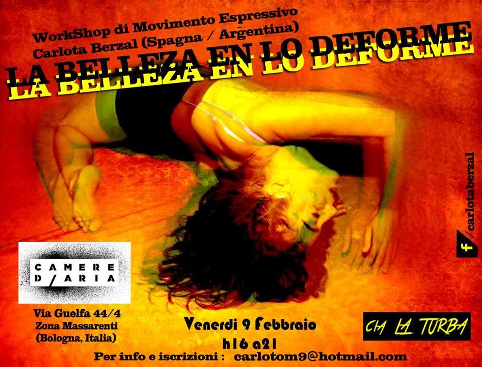 Workshop La Belleza en lo Deforme Carlota Berzal (Spagna)
