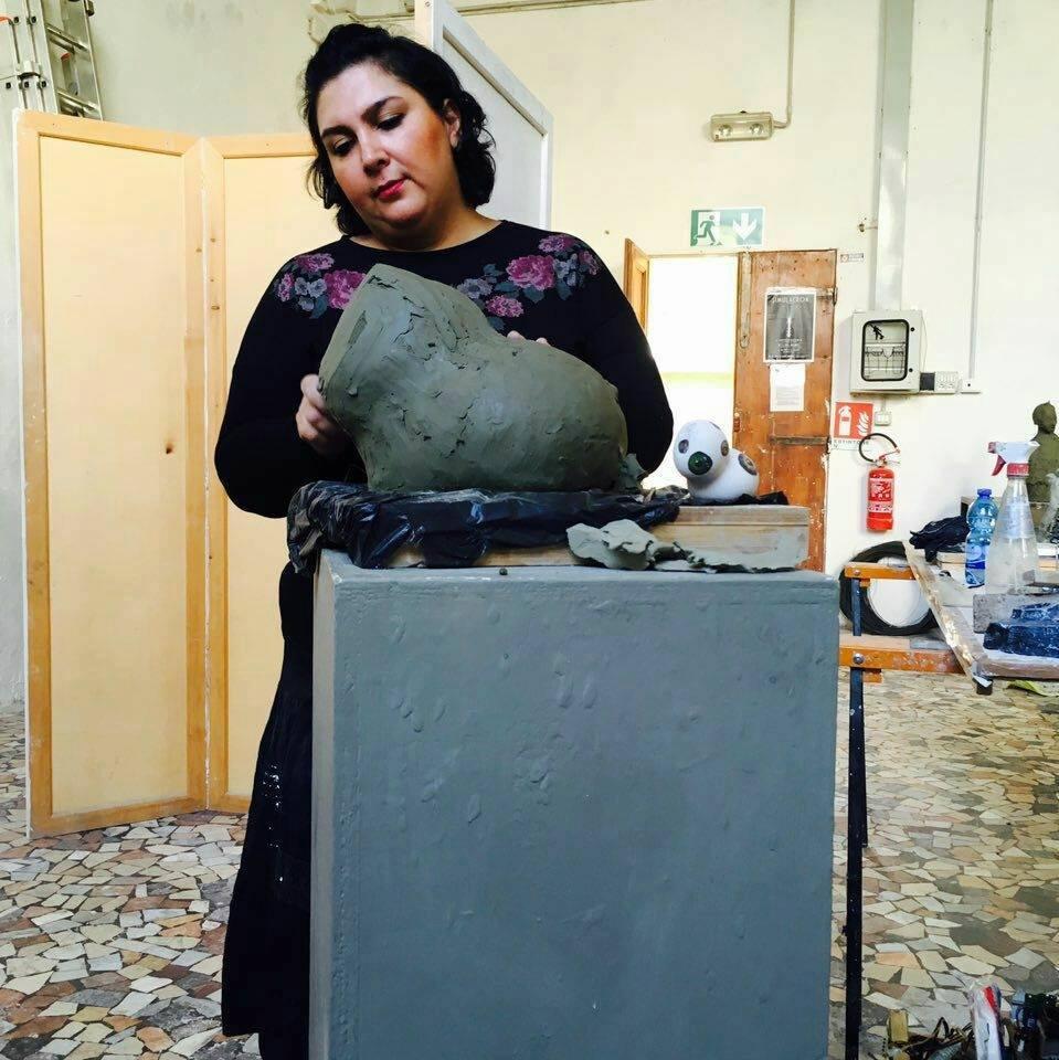 Laboratorio di Scultura con Shirin
